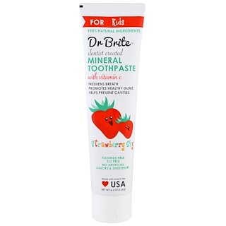 Dr. Brite, Mineral Toothpaste for Kids, Strawberry Sky,  4.2 oz (119 g)