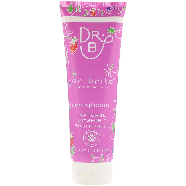 Dr. Brite, Natural Vitamin C Toothpaste, Berrylicious, 5 oz (142 g) (Discontinued Item)