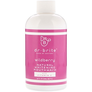 Dr. Brite, Natural Whitening Mouthwash with Vitamin C, Wildberry, 8 fl oz (236.58 ml)