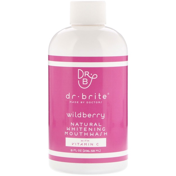 Dr. Brite, Natural Whitening Mouthwash with Vitamin C, Wildberry, 8 fl oz (236.58 ml) (Discontinued Item)