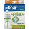 Dr. Brown's, Natural Flow, Options, Wide-Neck, 0 + Months, 2 Pack Bottles, 5 oz (150 ml) Each