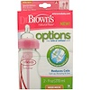 Dr. Brown's, Natural Flow, Options, Wide-Neck, Special Edition, Pink, 0 + Months, 2 Pack Bottles, 9 oz (270 ml) Each (Discontinued Item)