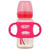 Dr. Brown's, Wide-Neck Sippy Bottle, 6M+, Pink, 9 oz (270 ml)
