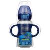 Dr. Brown's, Wide-Neck Sippy Bottle, 6M+, Blue, 9 oz (270 ml)