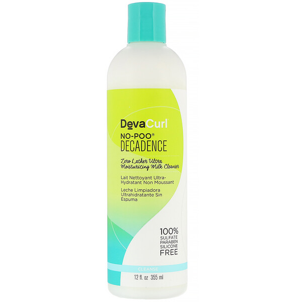 No-Poo, Decadence, Zero Lather Ultra Moisturizing Milk Cleanser, 12 fl oz (355 ml)
