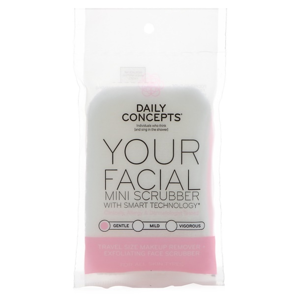 Daily Concepts, Your Facial Mini Scrubber, Gentle, 1 Scrubber (Discontinued Item)