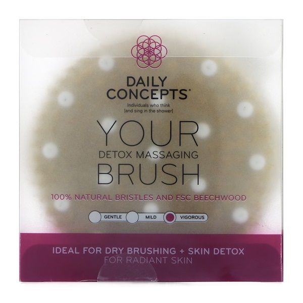 Daily Concepts, Your Detox Massaging Brush, Vigorous, 1 Brush (Discontinued Item)