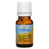 Ddrops, жидкий витаминD3 для детей, 400МЕ, 90капель, 2,5мл (0,08мл)