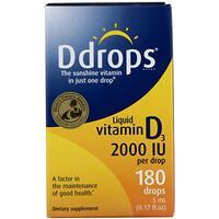 Жидкий витамин D3, 2000 МЕ, 0,17 жидких унций (5 мл) - фото