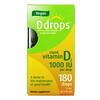 Ddrops, 液体维生素 D2,1,0000 国际单位,017 液量盎司(5 毫升)