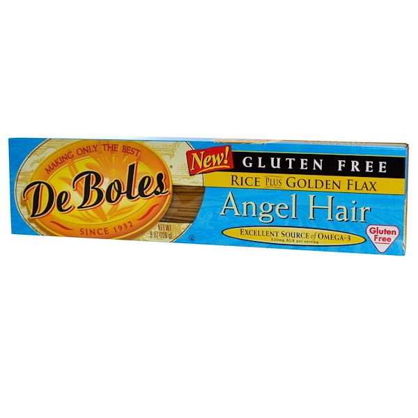 DeBoles, Gluten Free, Angel Hair, Rice Plus Golden Flax, 8 oz (226 g) (Discontinued Item)