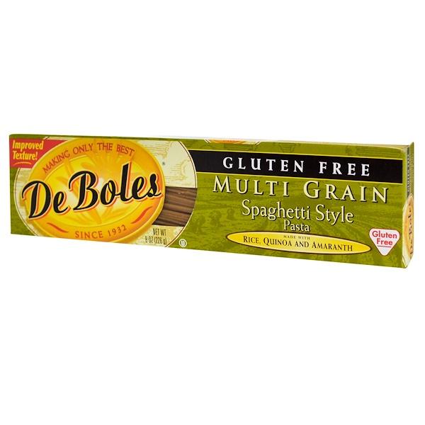 DeBoles, Gluten Free, Multi Grain Spaghetti Style Pasta, 8 oz (226 g)