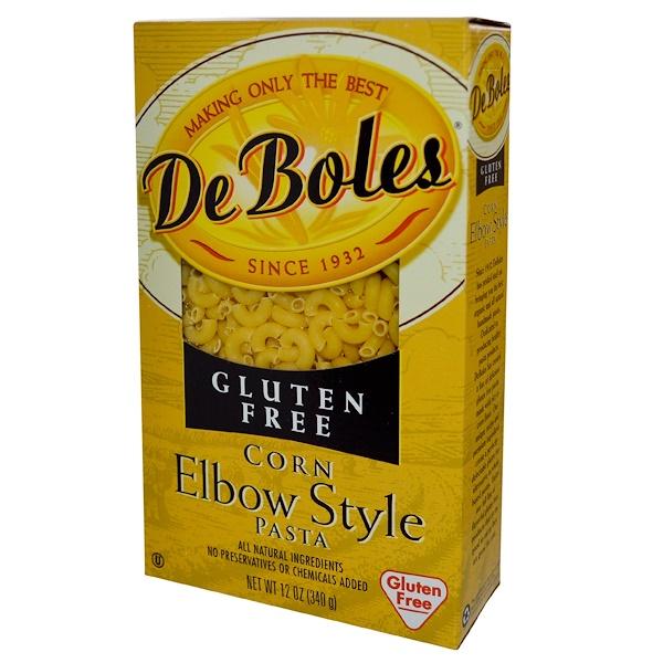 DeBoles, Макаронные изделия, рожки из кукурузной муки без глютена, 12 унций (340 г)