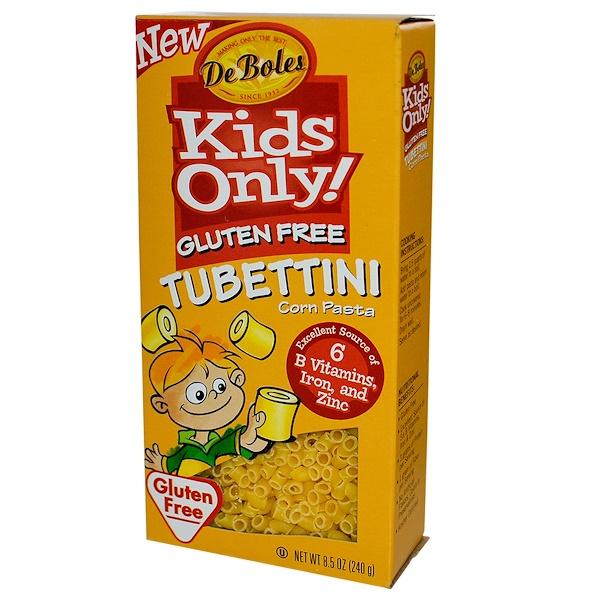 DeBoles, Только для детей! Паста тюбеттини без клейковины, 8.5 унций (240 г) (Discontinued Item)