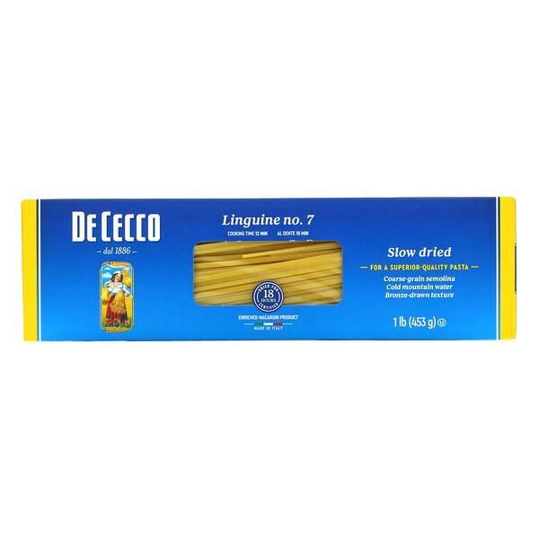 De Cecco, Linguine. No 7, 1 lb (453 g)