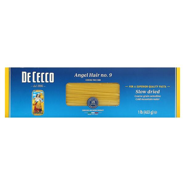 De Cecco, Angel Hair, No 9, 1 lb (453 g)