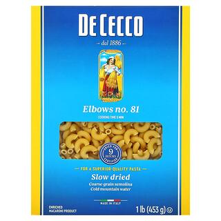 De Cecco, Elbows No. 81, 1 lb (453 g)