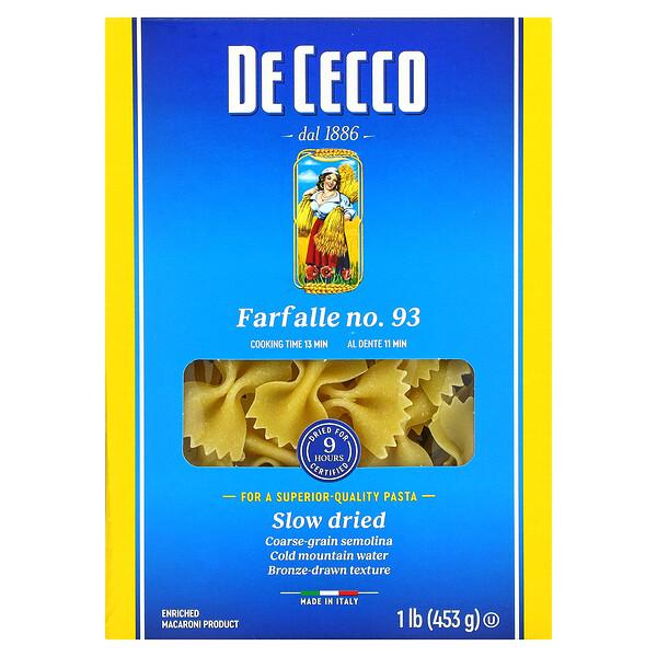 De Cecco, Farfalle No. 93, 1 lb (453 g)