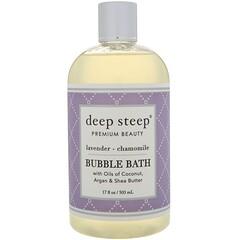 Deep Steep, 泡泡浴,薰衣花草 - 洋甘菊,17 液量盎司(503 毫升)