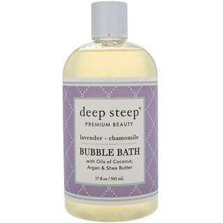 Deep Steep, Bubble Bath, Lavender - Chamomile, 17 fl oz (503 ml)