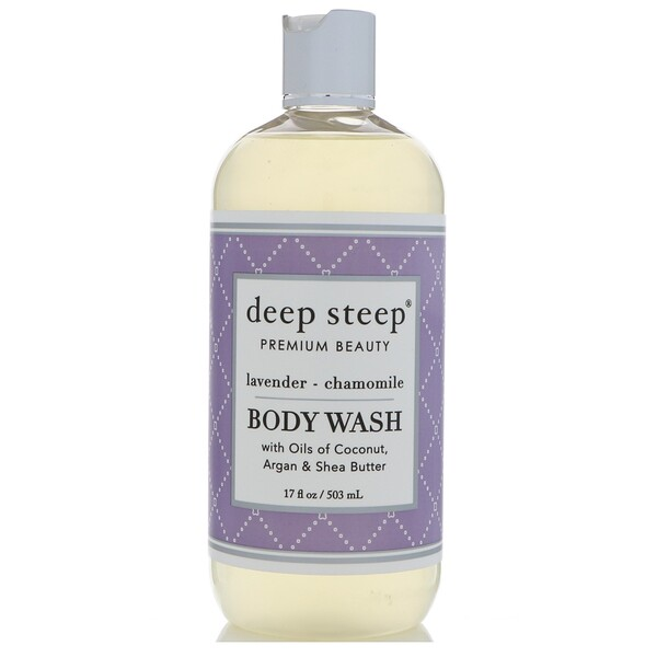 Deep Steep, Gel de ducha, lavanda - camomila, 17 fl oz (503 ml)