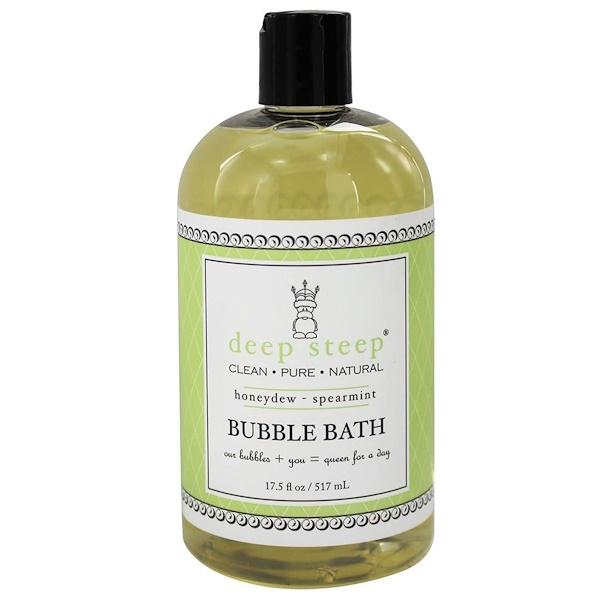 Deep Steep, Bubble Bath, Honeydew - Spearmint, 17.5 fl oz (517 ml) (Discontinued Item)