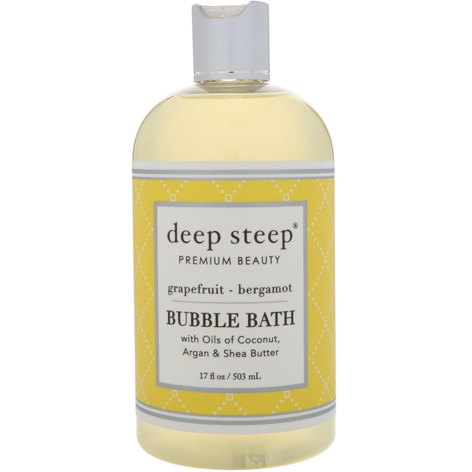 Deep Steep, Пена для ванн, грейпфрут - бергамот, 503 мл (17 унций)