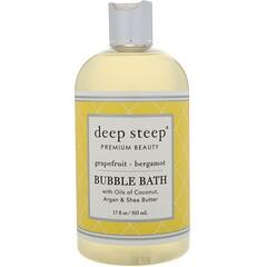 Deep Steep, 泡泡浴,葡萄柚-佛手柑,17 液體盎司(503 毫升)
