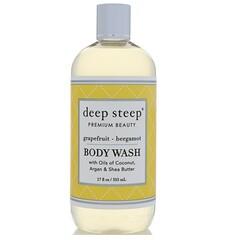 Deep Steep, 沐浴露,葡萄柚-佛手柑,17 液體盎司(503 毫升)