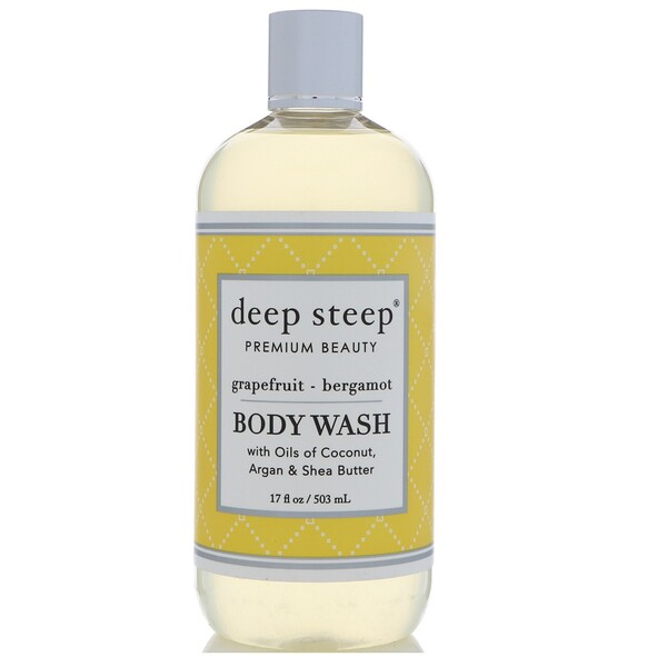 Deep Steep, Body Wash, Grapefruit - Bergamot, 17 fl oz (503 ml)