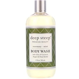Deep Steep, 바디 워시, 로즈마리- 민트, 17 fl oz (503 ml)