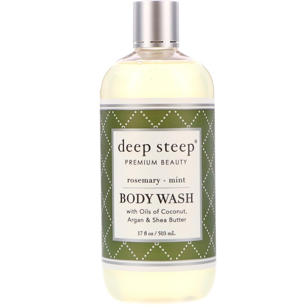 Deep Steep, Body Wash, Rosemary - Mint, 17 fl oz (503 ml) (Discontinued Item)