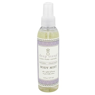 Deep Steep, Body Mist, Lavender - Chamomile, 6 fl oz (177 ml)