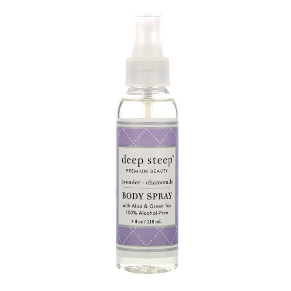 Deep Steep, Body Spray, Lavender - Chamomile, 4 fl oz (118 ml)