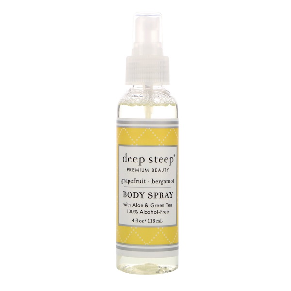 Deep Steep, Body Mist, Grapefruit Bergamot, 6 fl oz (177 ml) (Discontinued Item)