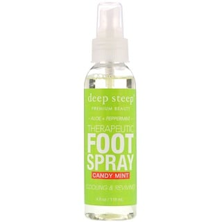 Deep Steep, Therapeutic Foot Spray, Candy Mint, 4 fl oz (118 ml)