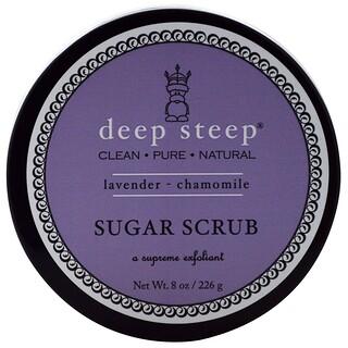 Deep Steep, 슈가 스크럽, 라벤더 - 캐모마일, 226g(8oz)