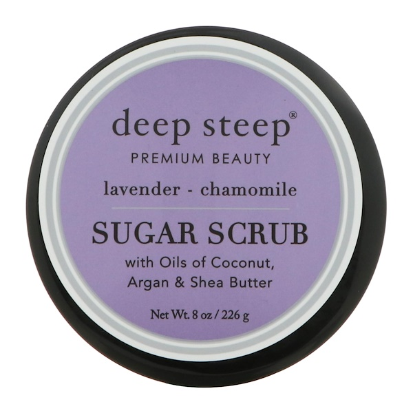 Deep Steep, Sugar Scrub, Lavanda - Camomila, 8 oz (226 g)