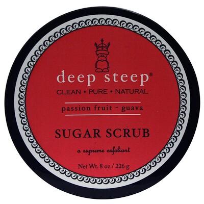 Купить Deep Steep Сахарный скраб, маракуйя и гуава, 8 унций (226 г)