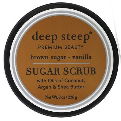 Купить Deep Steep Сахарный скраб, коричневый сахар и ваниль, 8 унций (226 г)