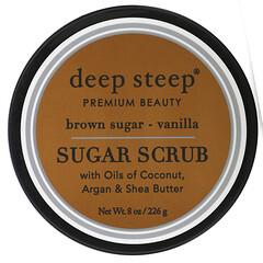 Deep Steep, 糖去角質,黑糖-香草,8 盎司(226 克)