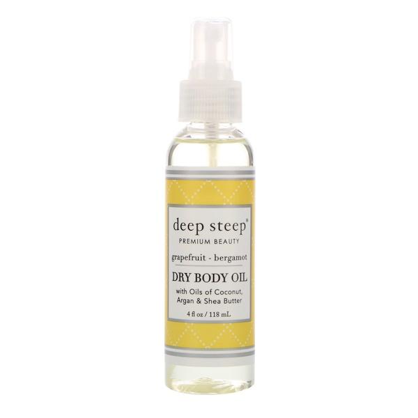 Deep Steep, Dry Oil Body Spritzer, Grapefruit Bergamot, 4 fl oz (118 ml) (Discontinued Item)