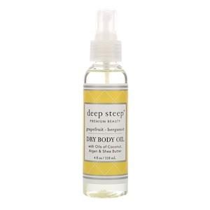 Дип Стип, Dry Oil Body Spritzer, Grapefruit Bergamot, 4 fl oz (118 ml) отзывы покупателей