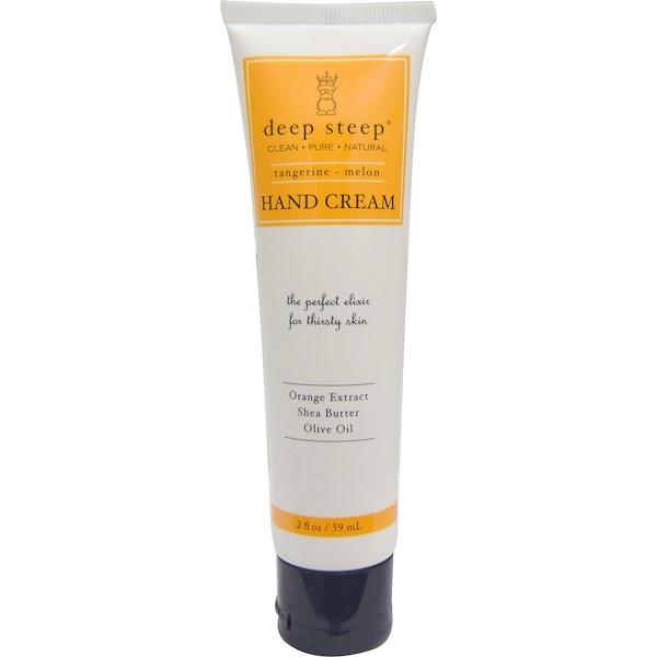 Deep Steep, Hand Cream, Tangerine - Melon, 2 fl oz (59 ml) (Discontinued Item)
