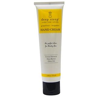 Deep Steep, Hand Cream, Grapefruit - Bergamot, 2 fl oz (59 ml)