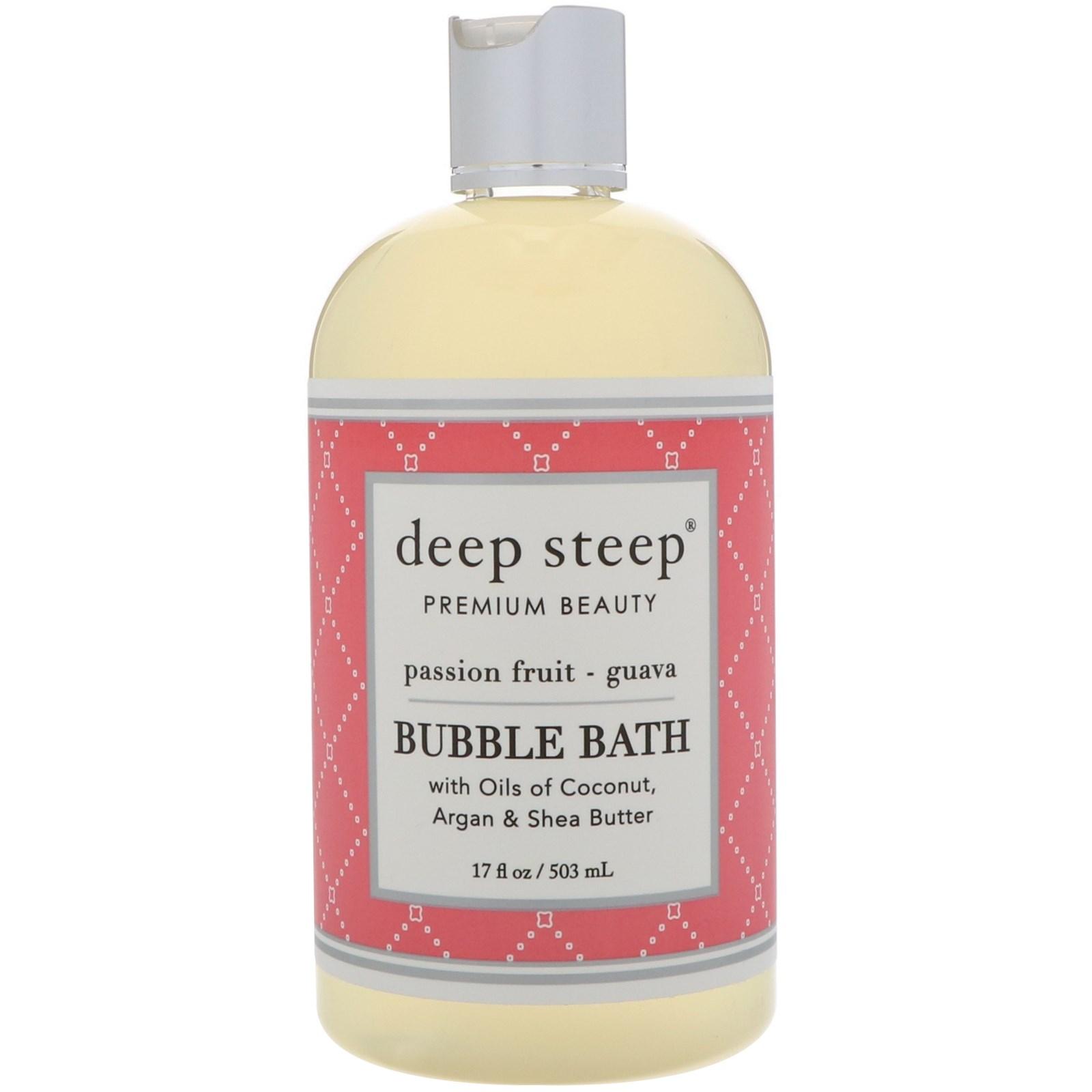 Deep Steep, Bubble Bath, Passion Fruit - Guava, 17 fl oz  (503 ml)