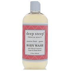 Deep Steep, Body Wash, Passion Fruit - Guava, 17 fl oz (503 ml)