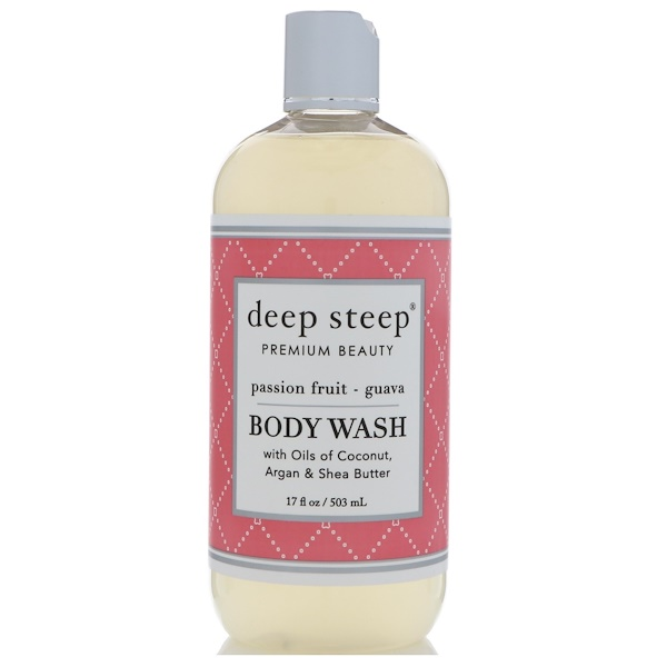 Deep Steep, Body Wash, Passion Fruit - Guava, 17 fl oz (503 ml)