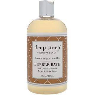 Deep Steep, Bubble Bath, Brown Sugar - Vanilla, 17 fl oz (503 ml)