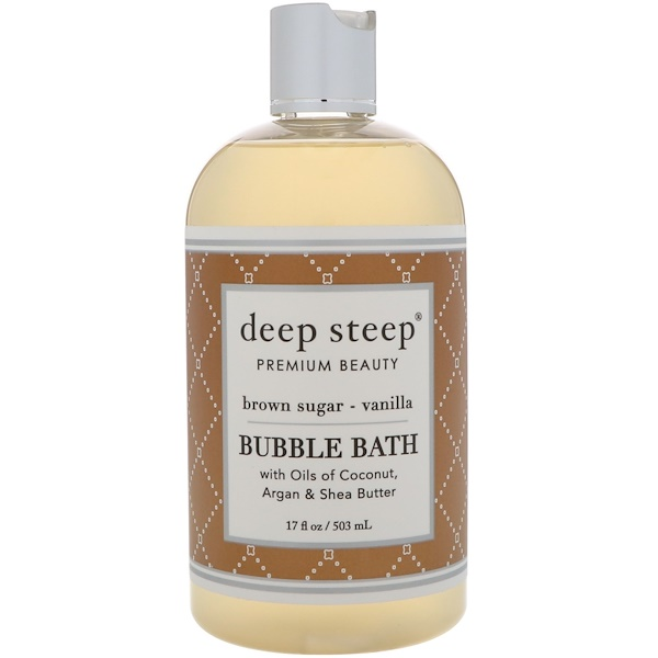 Deep Steep, Bubble Bath, Brown Sugar - Vanilla, 17 fl oz (503 ml) (Discontinued Item)